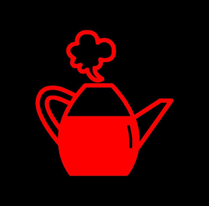 Mehrere Teewassertasten für verschiedene Mengen/ Sorten